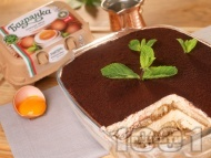 Домашна торта тирамису - класическа рецепта с яйца Багрянка, маскарпоне, кафе, бишкоти и вино Марсала
